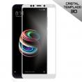 Protector de Pantalla HT Cristal Templado 3D White para Xiaomi Redmi 5 Plus