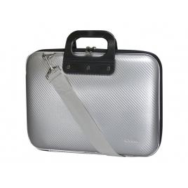 """Maletin Portatil E-VITTA 13.3"""" BAG Carbon Silver"""