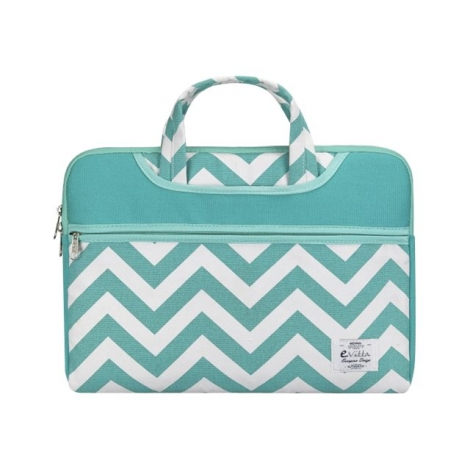 "Maletin Portatil E-VITTA 15.4"" - 16"" Chevron Green/White"