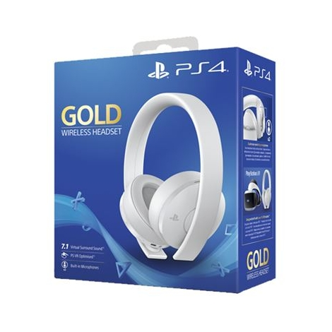 Auricular + MIC Sony Gold Wireless Headset White PS4