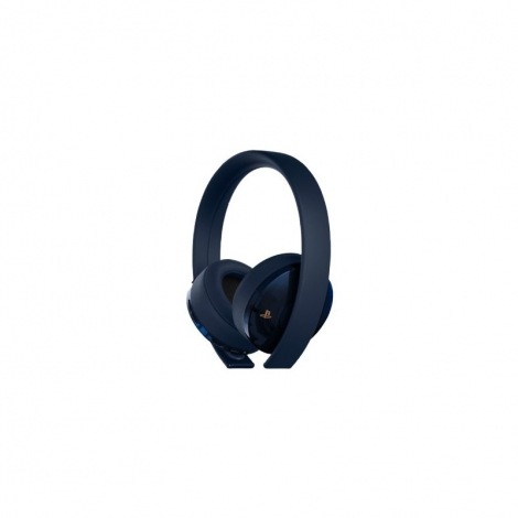 Auricular + MIC Sony Gold Wireless Headset Navy Blue PS4