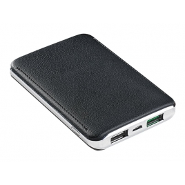 Bateria Externa Universal Celly 5.000MAH Turbo 2.4A USB Black