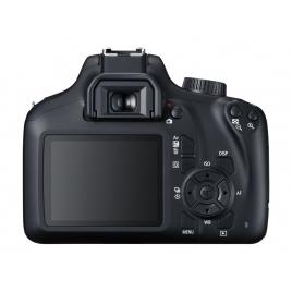 Camara Digital Canon EOS 4000D 18 Mpixel 3X Zoom EF-S 18-55 EF 75-300 Black