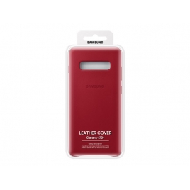 Funda Movil Back Cover Samsung Leather Cover red para Galaxy S10+