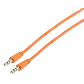 Cable Kablex Audio Jack 3.5MM Macho / Macho 1M Orange