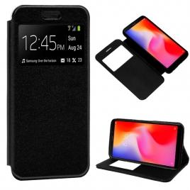Funda Movil HT Leather Window Black para Xiaomi Redmi 6 / 6A