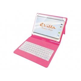 """Funda Tablet E-VITTA 10.1"""" + Teclado USB Pink"""