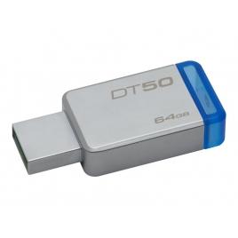 Memoria USB 3.1 Kingston 64GB DT50 Silver/Blue