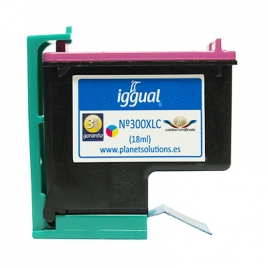 Cartucho Reciclado Iggual HP 300XL Color 3X6ML