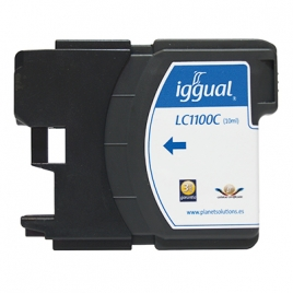 Cartucho Reciclado Iggual Brother LC1100 Cyan 15ML