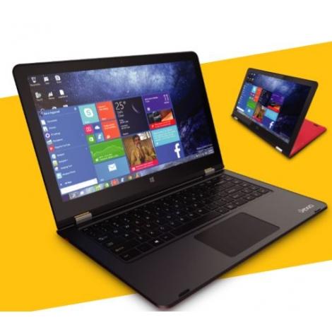 """Portatil 360 Vexia Twist Atom Z8350 2GB 32GB 14.1"""" FHD Tactil W10 Red/Black"""