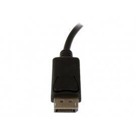 Adaptador Startech DisplayPort Macho / VGA Hembra + Jack Hembra + Mircro USB Hembra Black