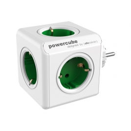 Regleta Powercube Original 5 Tomas White/Green