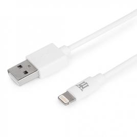 Cable Maillon USB 2.0 a Macho / Lightning Macho 1M White