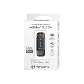 Memoria USB Transcend 64GB Jetdrive GO 300 USB 3.1 Lightning Space Grey