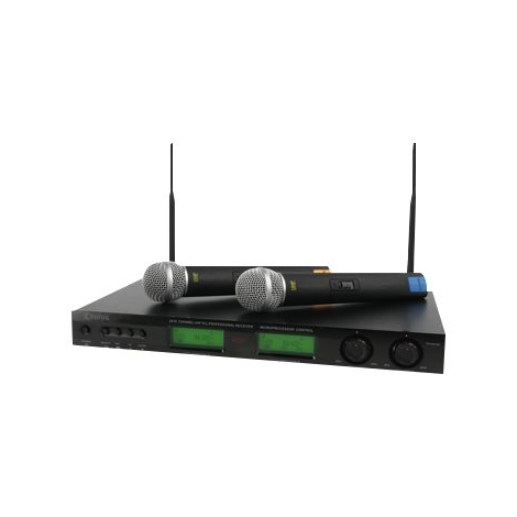 Sistema Inalambrico Konig 2X Microfono 16 Canales