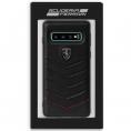 Funda Movil Back Cover Ferrari Piel Black para Galaxy S10+ G975