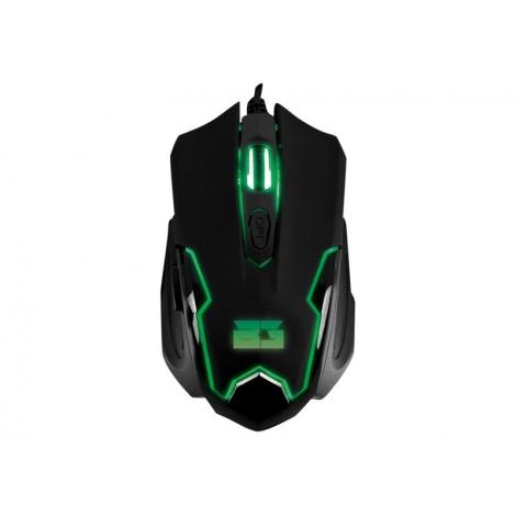 Mouse B-MOVE Vyper LED Green USB Black