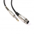 Cable Kablex Audio XLR 3 PIN Hembra / Jack 6.3MM Macho 2M
