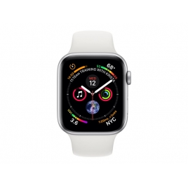Apple Watch Serie 4 GPS + 4G 44MM Silver Aluminium + Correa Sport White