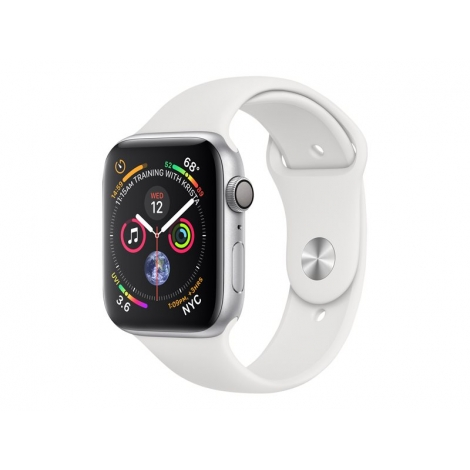 Apple Watch Serie 4 GPS 44MM Silver Aluminium + Correa Sport White