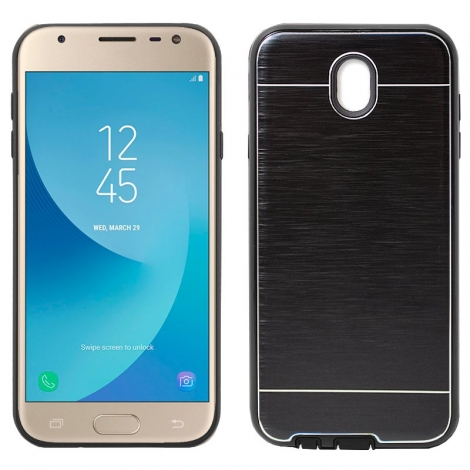Funda Movil Back Cover HT Aluminio Black para Galaxy J330 J3 2017