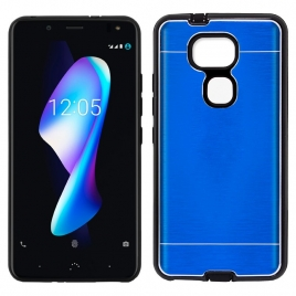 Funda Movil Back Cover HT Aluminio Blue para Bq Aquaris V Plus / VS Plus