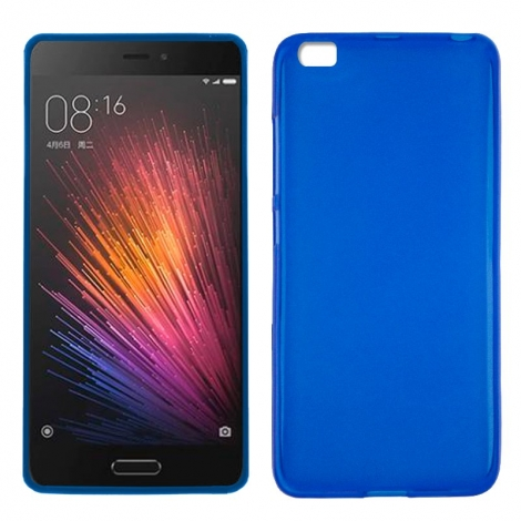 Funda Movil Back Cover HT Silicona Blue para Xiaomi mi 5