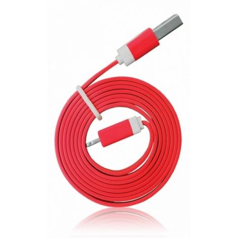 Cable Kablex USB 2.0 a Macho / Apple Lightning Macho 1M red