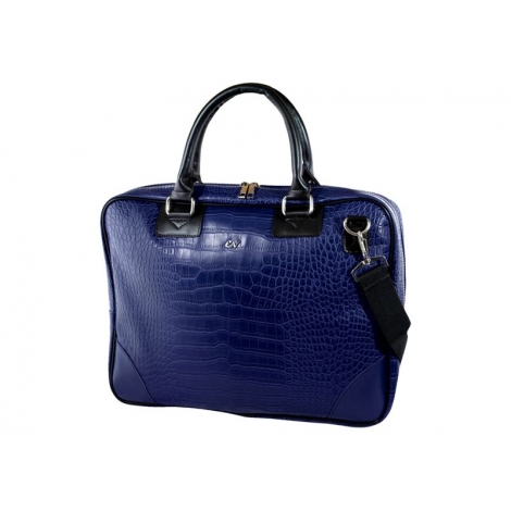 "Maletin Portatil E-VITTA 16"" Business Advance Leather Dark Blue"