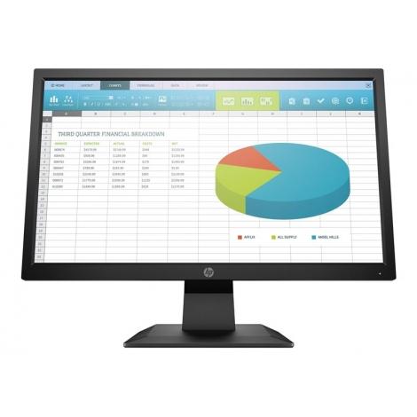 "Monitor HP 19.5"" HD P204 1600X900 5ms VGA HDMI DP Black"