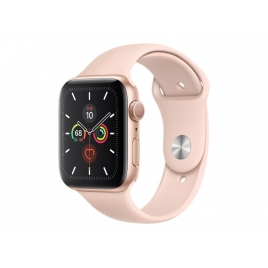 Apple Watch Serie 5 GPS 44MM Gold Aluminium + Correa Sport Pink Sand