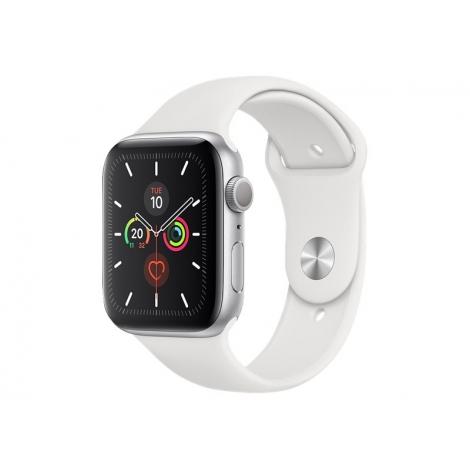 Apple Watch Serie 5 GPS 44MM Silver Aluminium + Correa Sport White