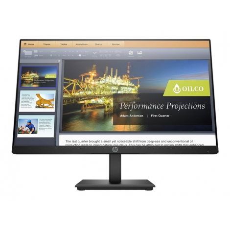 "Monitor HP 21.5"" FHD P224 1920X1080 5ms VGA DP HDMI Black"