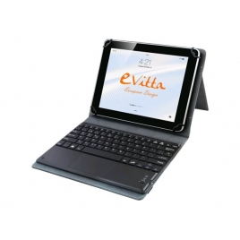 "Funda Tablet E-VITTA 10.1"" Keytab BT Touchpad Pure Black"