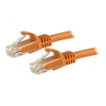 Cable Startech red RJ45 CAT 6 1M Orange
