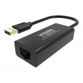 Tarjeta red Vision 10/100/1000 USB 3.0 Black
