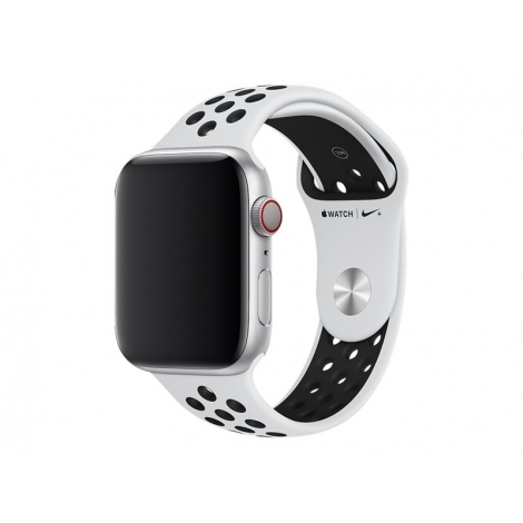 Correa Apple 44MM Nike Sport Band Pure Platinum / Black