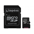 Memoria Micro SD Kingston 128GB Class 10 80MBS + Adaptador