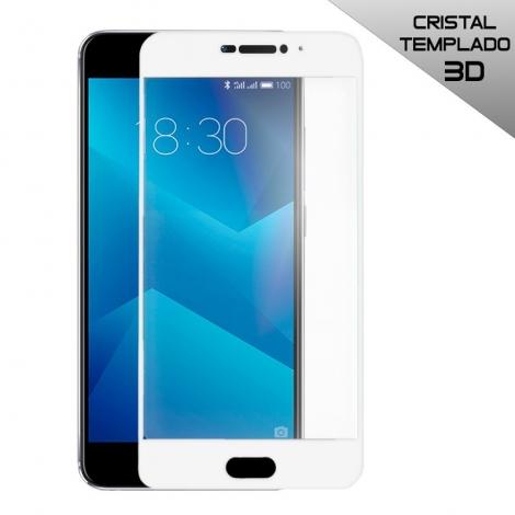 Protector de Pantalla HT Cristal Templado 3D White para Meizu M5 Note