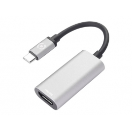 Adaptador Celly USB-C Macho / HDMI Hembra Silver