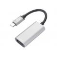 Adaptador Celly USB-C Macho / HDMI Hembra Silver