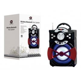 Altavoz Bluetooth Conceptronic Bassparty 20W USB SD FM Mando a Distancia Black/Red