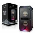 Altavoz Bluetooth Conceptronic Dario 30W USB Micro SD FM Luces Mando a Distancia Black