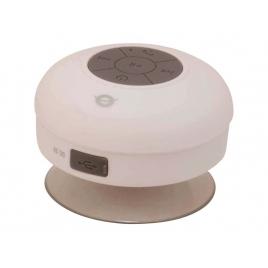 Altavoz Bluetooth Conceptronic Impermeable con Ventosa White