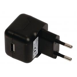 Cargador USB HT 5V 2.1A Black para Casa