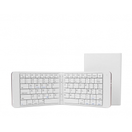 Teclado Leotec Bluetooth Plegable Mini White