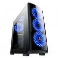 Caja Mediatorre ATX Deep Gaming Deep Storm Blue Edition USB 3.0 Window Black