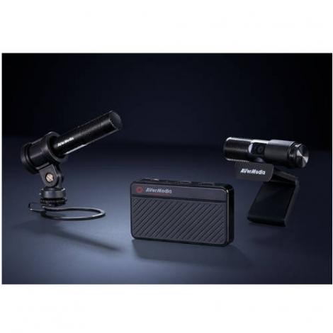 KIT Youtuber Streaming Avermedia Capturadora GC311 + Webcam PW313 + Microfono AM133