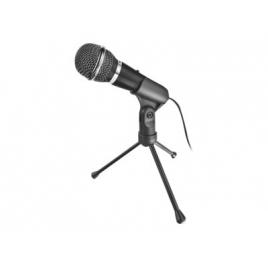 Microfono Mano Trust Starzz 3.5MM Cableado Black